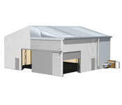 Rendering T-Line Leichtbauhalle Industriezelte Industry and Trade Logistik Lagerung
